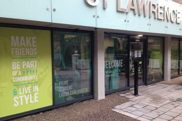 cut vinyl graphics, contravision, one way privacy window film