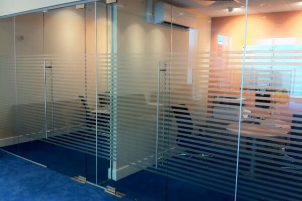glass partitions, office partitions, window graphics