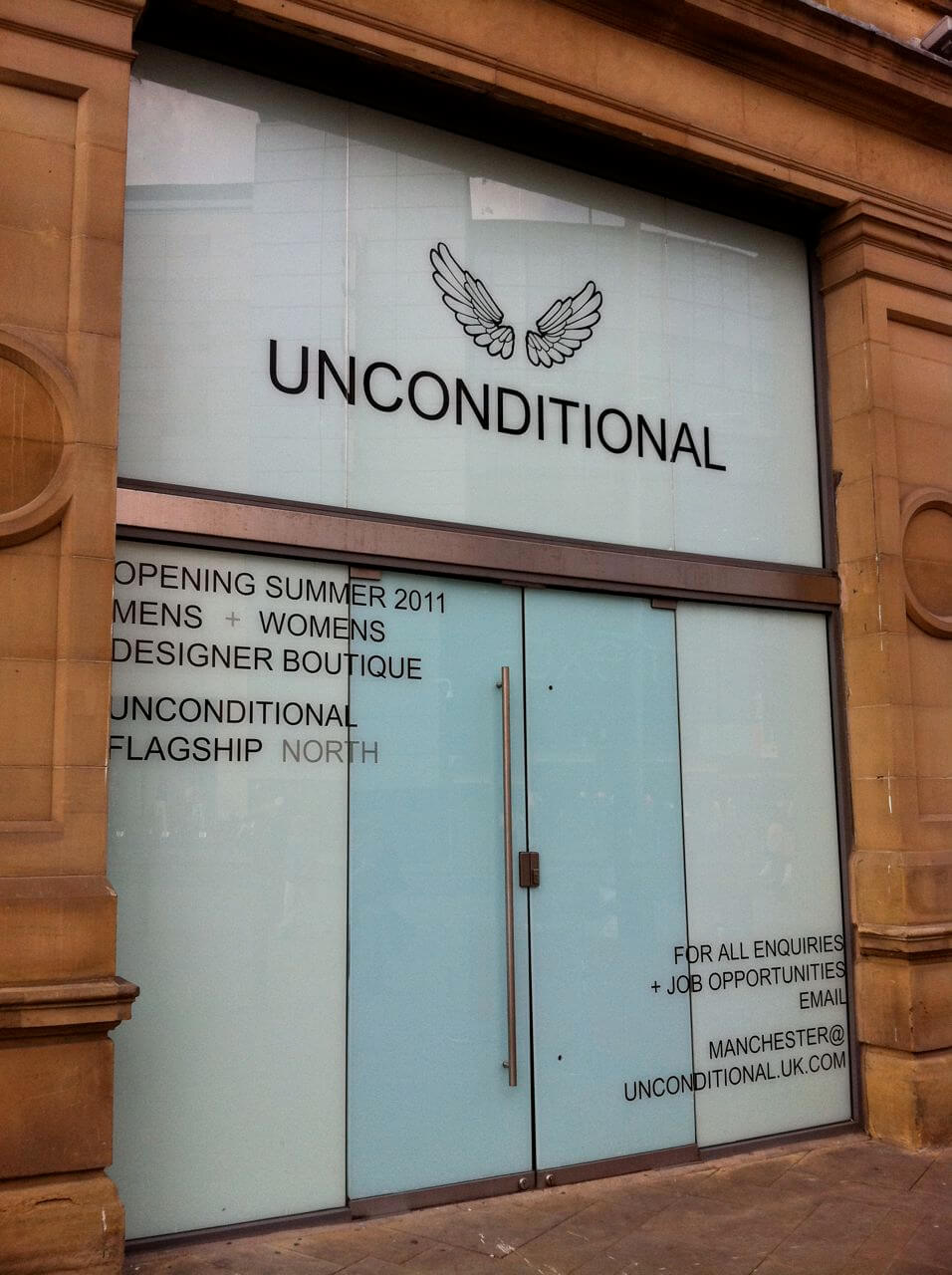 vinyl graphics and white privacy window film manchester