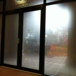 Frosted Safety Window Film with Digitally Printed Graphics – Manchester