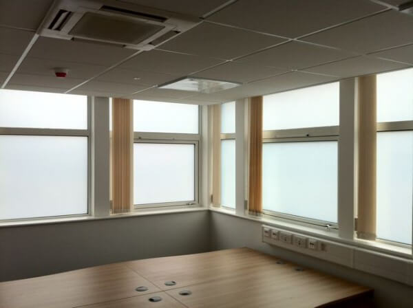 White Opaque Privacy Window Film – Skelmersdale
