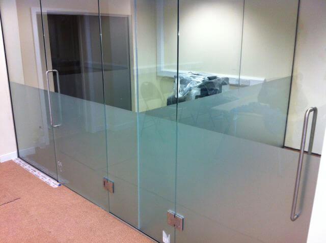 frosted glass partitions, construction, ellesmere port