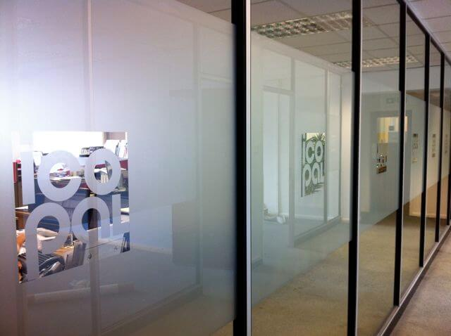 frosted partition graphics manchester window films 2000