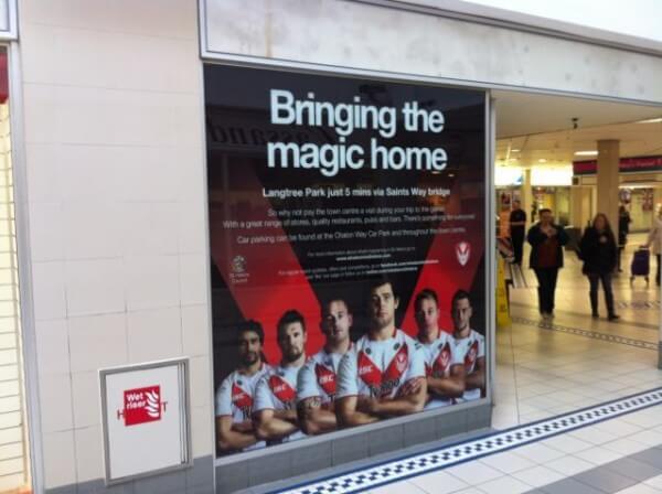 Window Advertising Graphics – St Helens