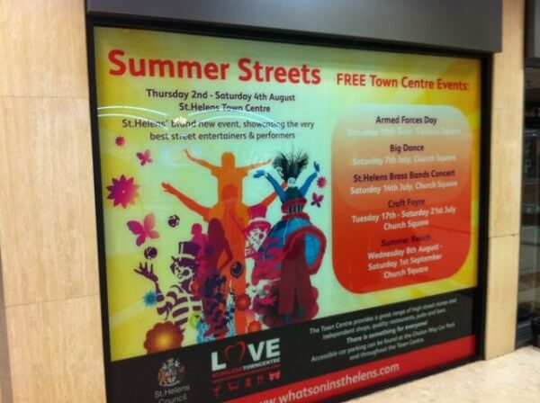 Large Format Window Graphics – St Helens
