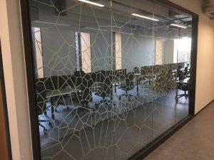 Voronoi Printed Glass