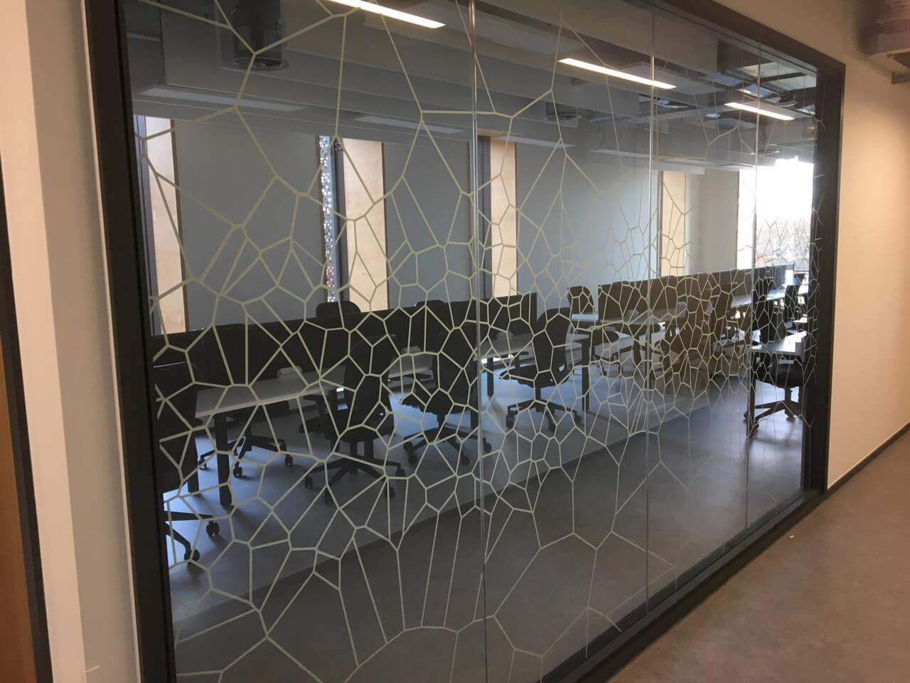 Voronoi Printed Glass